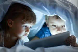 too much screen time for young children